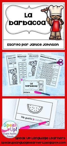 Spanish Barbecue Summer Reader {la barbacoa, el verano, la comida} & Vocabulary Pack ~ Simplified for Language Learners