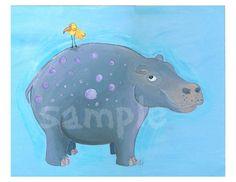 Hippo Nursery Art Print 8x10 by bealoo on Etsy, $15.00cute #hippo #art #nursery