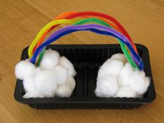 pipe cleaner rainbow and cloud