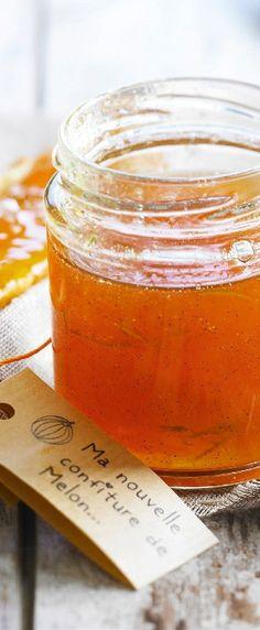 Une délicieuse confiture maison melon, citron vert et vanille pour vous surprendre.