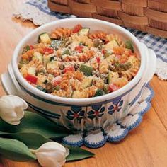 Zucchini Pasta Casserole Recipe -MY HUSBAND is the gardener in our family, and I love to create new recipes with the produce. This dish is the result of one of my efforts during an especially bountiful zucchini harvest. —Nettie Gornick Butler, Pennsylvania