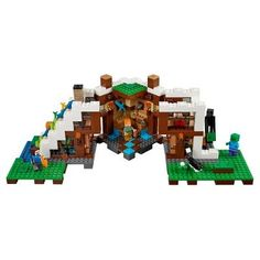 Lego Minecraft The Waterfall Base 21134 Minecraft Gifts, Lego Minecraft, Lego Knights, Building Blocks Toys, Lego Toys, Small Buildings, Gifted Kids, Sandbox, Handmade Birthday Cards