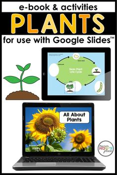 This Google Slides file includes an informational ebook about plants (including information on plant life cycle, plant needs, and how plants help people). Each page includes audio for an optional listening experience. Following the e-book are six interactive slides. The first three provide a scaffolded informational butterfly writing experience. The other activities allow students to drag pictures and words to demonstrate their knowledge of plant parts and life cycles. Teaching Themes, Learning Resources, Sequencing Activities, Book Activities, Kindergarten Curriculum, Parts Of A Plant, Art Lessons Elementary, Beginning Of School, Science Lessons