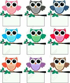 a big cute colourful owl family Kindergarten Classroom Decor, Owl Theme Classroom, Classroom Birthday, Classroom Labels, Classroom Rules, Class Decoration, School Decorations, Owl Clip Art, Birthday Charts