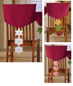 Multi-Seasonal Dining Chair Cover Decorations