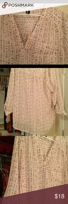 Patented tunic Extra large quarter sleeve tunic from Maurice's. Lightly used, good condition. Maurices Tops Tunics