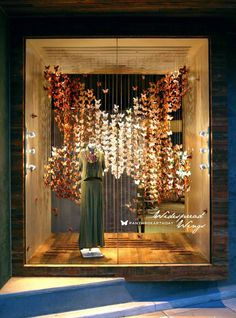 Hang vertically. Anthropologies earth day windows display 2014