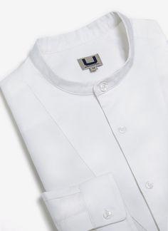 Camisa blanca con cuello mao - Colección   Adolfo Dominguez shop online