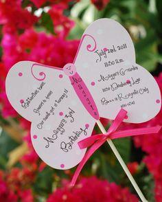 DIY Butterfly Birthday Invitation Invitations Diy Pattern Decorations