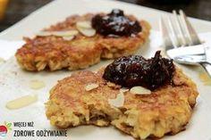 Placki owsiane z jabłkiem, zdrowe śniadanie, zdrowe przepisy, zdrowy styl życia, zdrowe odżywianie, płatki zbożowe, szybkie śniadanie