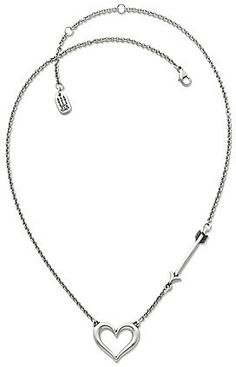 James Avery Love Struck Heart Necklace - A timeless symbol of love, this sterling silver Love Struck Heart necklace captures the moment when love strikes with a whimsical arrow and heart at Dillard's.