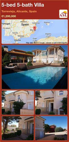 5-bed 5-bath Villa in Torrevieja, Alicante, Spain ►€1,200,000 #PropertyForSaleInSpain
