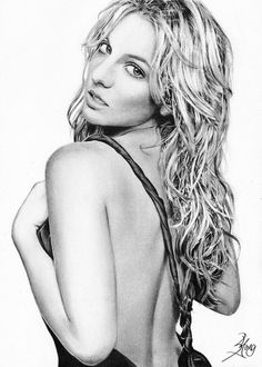 Britney Spears drawing  Artist: SongYong (deviantArt)  #BritneySpears #drawing #art