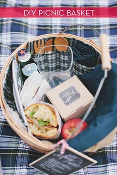 DIY Projects Picnic Ideas | How To Make A Picnic Basket For Spring | Easy Outdoor Fun Tutorials By DIY Ready. http://diyready.com/9-best-diy-picnic-food-ideas-crafts/