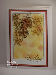 "Would also make a great fall card.... **** Stamp set: SU ""Lovely as a Tree"""