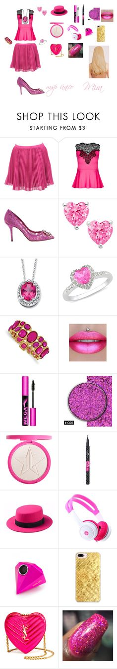 """""""unique outfit"""" by miliorobb on Polyvore featuring French Connection, City Chic, Dolce&Gabbana, Ice, 1928, Jeffree Star, L.A. Girl, Forever 21, ban.do and Casetify"""