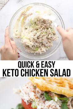 Shredded Chicken Salads, Homemade Chicken Salads, Low Carb Chicken Salad, Yogurt Chicken Salad, Keto Taco Salad, Chicken Salad Recipes, Non Carb Foods, Salad Recipes Low Carb, Easy Healthy Recipes