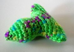 Sour Apple Fishy Cat toy. crinkly or rattle cat by TooCuteToChew, $1.25