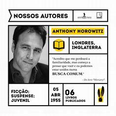 Anthony Horowitz é autor da bem-sucedida série de Alex Rider e um dos mais populares e prolíficos escritores ingleses. Além de escritor, Horowitz é criador de diversas séries policiais para a TV.