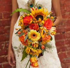 Herbst Blumen Ideen Brautstrauß Mehr