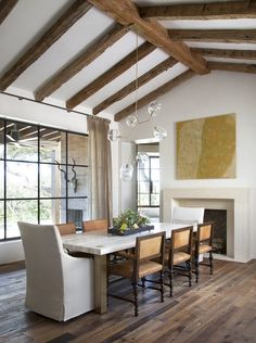 Ceiling beams and lighting - Richard Lane | Ryan Street & Associates