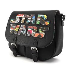 by pencillo - Star Wars Shoes - Ideas of Star Wars Shoes - Loungefly Unveils A Star Wars Comic Logo Crossbody Bag Star Wars Outfits, Star Wars Clothes, Star Wars Shoes, Geeks, Star Wars Comics, Star Wars Merchandise, Nerd Fashion, Star War 3, Star Wars Gifts