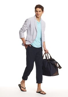 Nothing says vacation like linen pants. #vince #menswear
