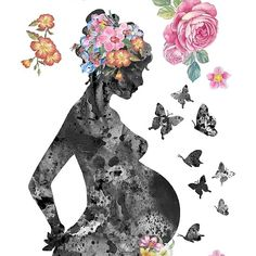 'Pregnancy, pregnant woman' Poster by Rosaliartbook – geniale Tattoos – emedical Mother Daughter Art, Mother Art, Pregnancy Art, Pregnancy Drawing, Early Pregnancy, Pregnancy Gifts, Birth Art, Women Poster, Medical Art