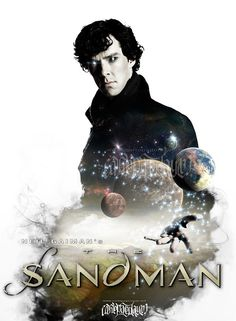 """Neil Gaiman Opens Up About 'Sandman' Movie - """"I think the first time I saw Benedict [Cumberbatch] was as Sherlock Holmes, I thought, 'Wow, that's incredibly Morpheus,' and fans probably thought the same because they immediately started doing fan-art, meshing the two of them up ... Then again, Tom Hiddleston is still out there! And the truth is, as far as I'm concerned, anybody who sounds English with great cheekbones can probably pull it off."""""""