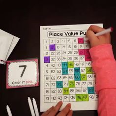 Earth Day Math activities are so much more fun when it is a puzzle! Kids look at each number card and color in the 100 chart to reveal a secret message!