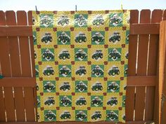 John Deere Quilt Quilted Throw by bestdoilies on Etsy, $175.00