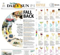 Diez periódicos con un gran diseño | Rayitas Azules | Diseño Editorial y Tipografía Daily Sun, Daylight Savings Time, Fall Back, Things To Do, Blue Stripes, Grand Designs, Editorial Design, Journaling, Summer Time