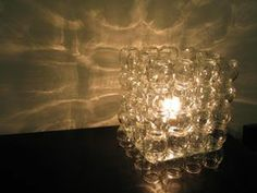 DIY jar table lamp- baby food jars   light kit - this could be very cool with different materials in the jars for effects.