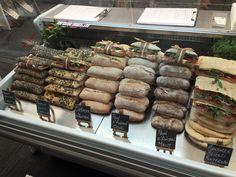 Sandwich Bar, Sandwich Shops, Coffee Shop Design, My Coffee Shop, Cheap Rice Cooker, Sandwich Packaging, My Favorite Food, Favorite Recipes, Food Displays