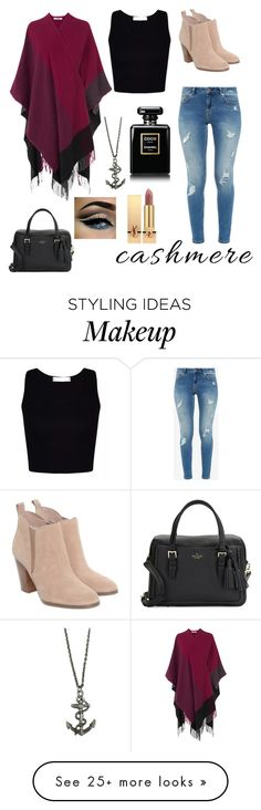 """""""Cashmere"""" by kaileela on Polyvore featuring L.K.Bennett, Ted Baker, Zara Taylor, Michael Kors, Kate Spade, Chanel and Yves Saint Laurent"""