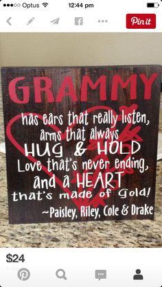 My mom will be the best grandma around!