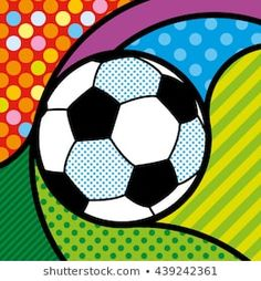 Pop Art Design Layout Illustrations 15 New Ideas Pop Art Design, Layout Design, Teen Wall Art, Arte Country, Soccer Ball, Football Soccer, Sad Art, Illustrations, Abstract Pattern