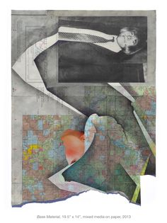 "Megan Greene. ""Base Material"", 19.5"" x 14"", mixed media on paper, 2013"