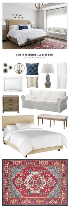 Copy Cat Chic Room Redo | Bright Transitional Bedroom | | Copy Cat Chic | chic for cheap | Bloglovin'
