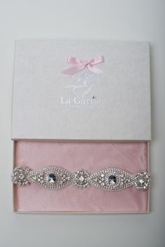 The Vienna Garter by La Gartier  Custom Garters. Modern. Glamorous. Luxurious. Now available for purchase via the website at www.lagartier.com