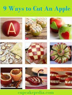 cut an apple 9 ways cupcakepedia