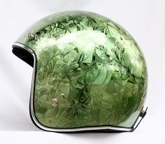 Masei Green Ice Chrome 610 Open Face Motorcycle Helmet