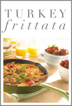 """Registered Dietitian Shannon Crocker says: """"This Turkey Frittata gets a gold star! Filled with turkey, eggs, cheese and lots of veggies, this breakfast is packed with protein and fibre to keep your kids going all morning long."""" For more energizing breakfast ideas, visit http://www.canadianturkey.ca/recipe-category/featured-recipes/."""