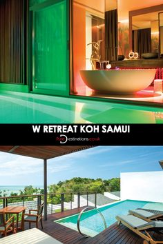 Enjoy al fresco features at W Retreat Koh Samui, from the diving bathtub on the sundeck overlooking the sublime infinity edge plunge pool! #Luxury #Destinations #Hotels #KohSamui #Thailand #holiday #Inspiration