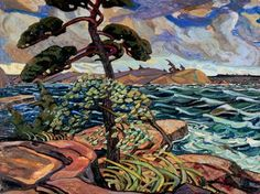 Arthur Lismer, English-Canadian September Gale, Georgian Bay, Group of Seven Tom Thomson, Canadian Painters, Canadian Artists, Emily Carr Paintings, Ontario, Art Inuit, Group Of Seven Paintings, Oil Painting Reproductions, Les Oeuvres