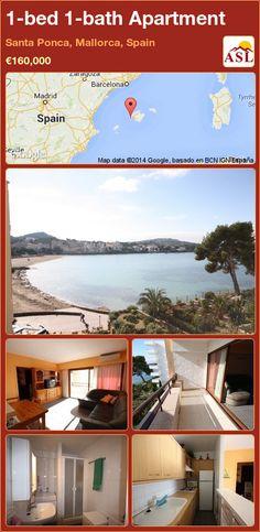 1-bed 1-bath Apartment in Santa Ponca, Mallorca, Spain ►€160,000 #PropertyForSaleInSpain