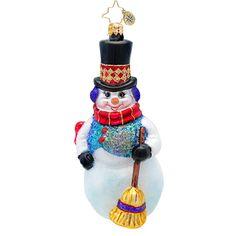 "Christopher Radko Ornament - ""Snowflurry Sweeper"""