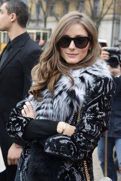 O. P. Black lace coat + fur