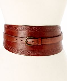 Look at this #zulilyfind! Chocolate & Mustard Rita Leather Belt by Motif 56 #zulilyfinds $45