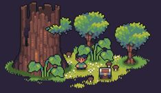 Pixel Art Background, Pixel Art Games, Environmental Art, Pokemon, Art Sketchbook, Game Design, Art Tutorials, Game Art, Art Inspo